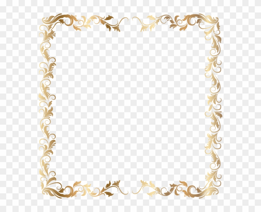 Gold Border Clipart Borders And Frames Clip Art - Transparent Background Gold Border #1349155