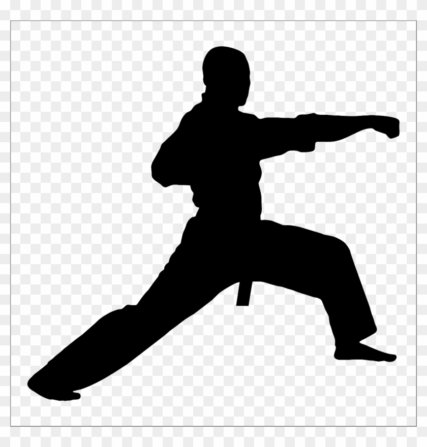 Silhouette Taekwondo Clipart Taekwondo Martial Arts Karate Logo Free Transparent Png Clipart Images Download
