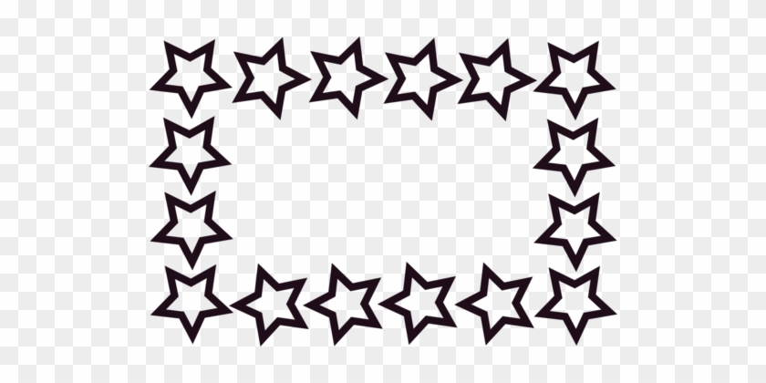 Borders And Frames Star Document Download Blog - Star Clipart Black And White Border #1350332