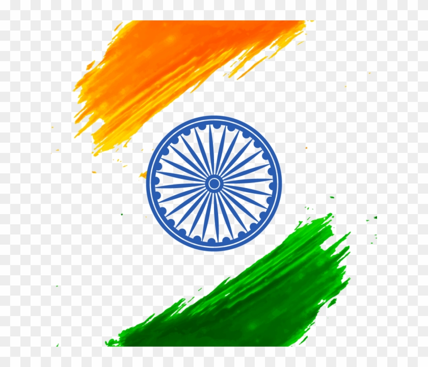 Abstract Flag Of India Independence Day With Ashoka All Logo Of India Free Transparent Png Clipart Images Download