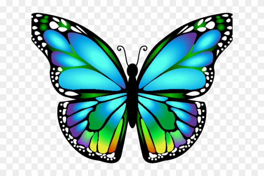 Dragonfly Clipart Butterfly - Blue 3d Butterfly Tattoo Design #1350759