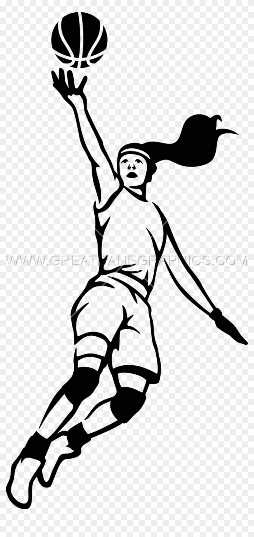 Clip Art Freeuse Stock Girls Download Best X - Girls Basketball Clipart Black And White #1351275