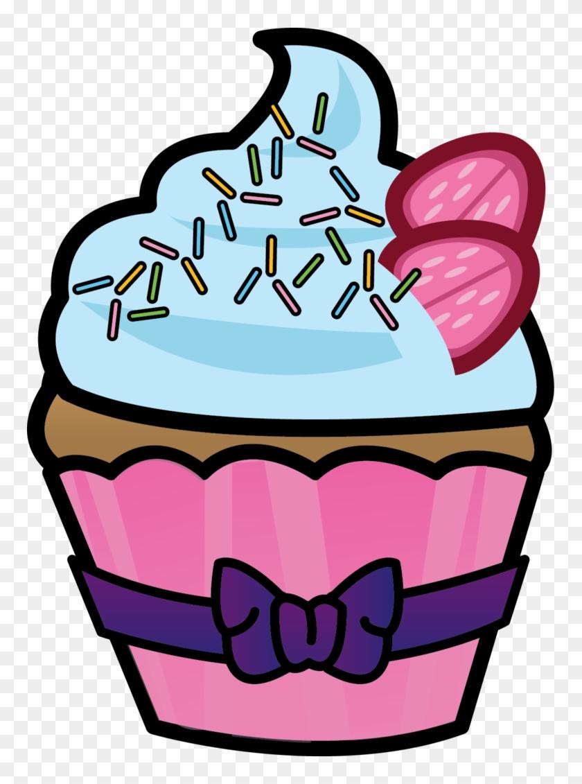 Cupcakes Clipart Half Eaten Cupcake Sketsa Gambar Es Cream