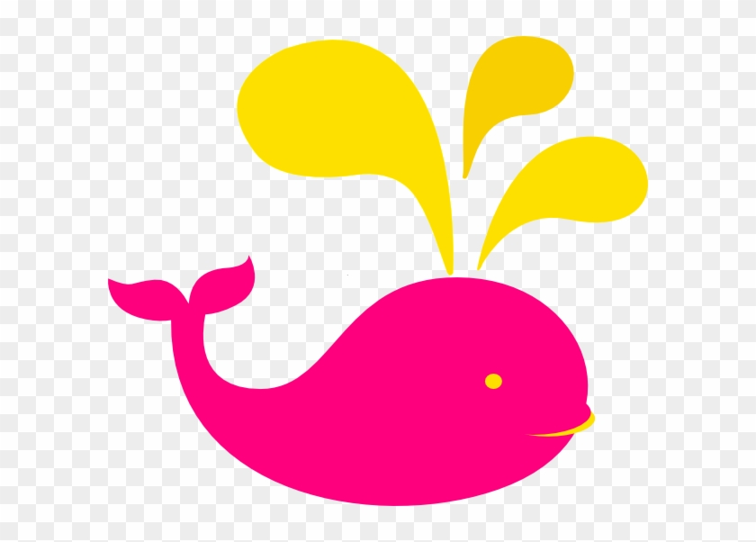Whale Pink And Yellow Clip Art At Clkercom Vector Online - Yellow And Pink Clker #1352268