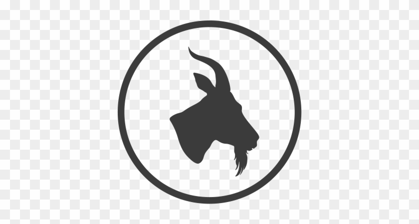 Silhouette At Getdrawings Com - Goat Head Png #1352354