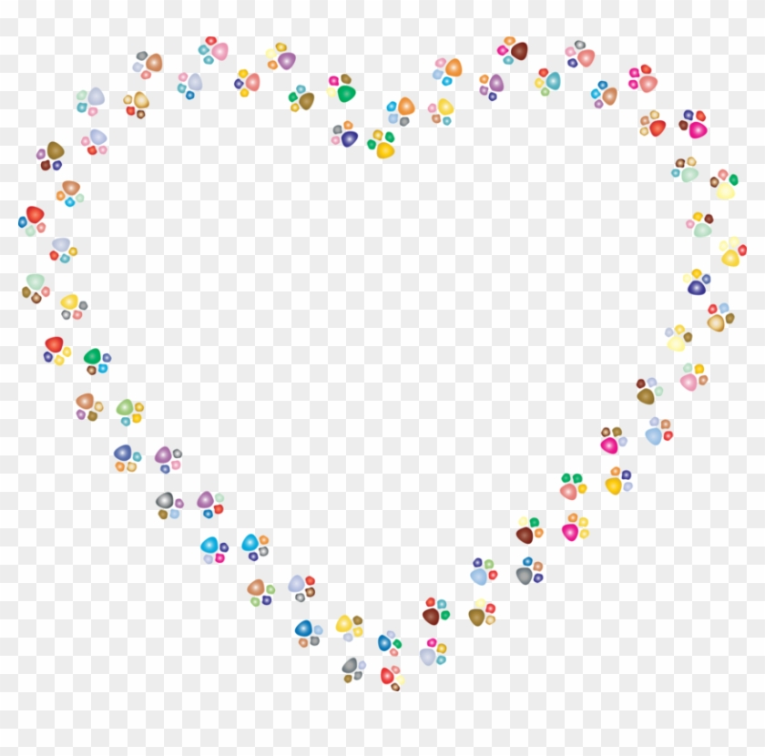 All Photo Png Clipart - Cat Paw Prints Heart Clip Art #1352848