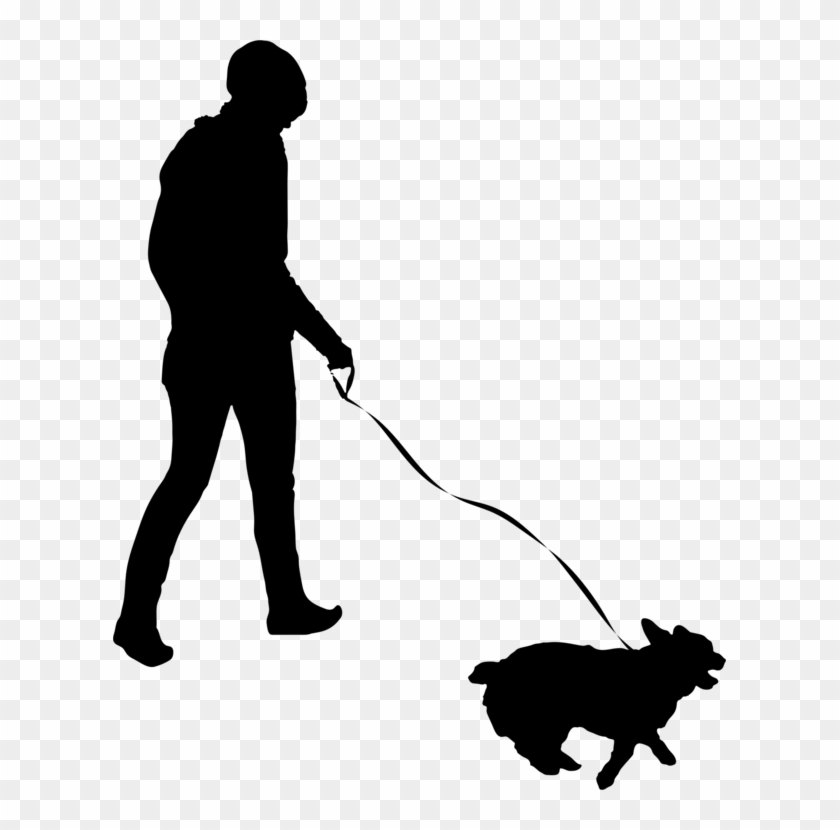 All Photo Png Clipart - Person Walking Dog Silhouette #1352853