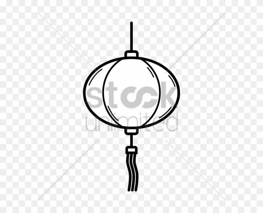 Download Lanterns Chinese Outline Clipart Paper Lantern - Chinese Lantern Outline Black And White #1352892