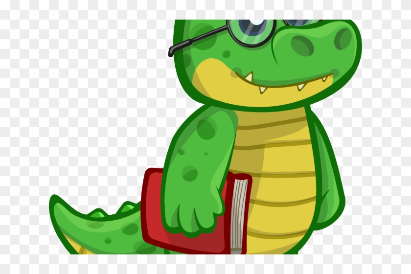 Alligator Clipart Cute Baby Snake - Crocodile Png Cartoon #1353313