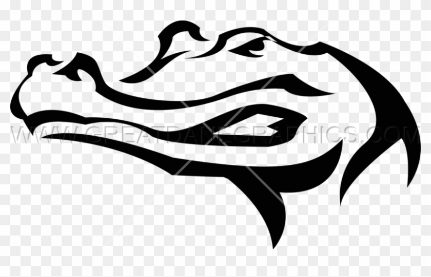 Gator Clipart Easy - Alligator Head Stencil #1353317
