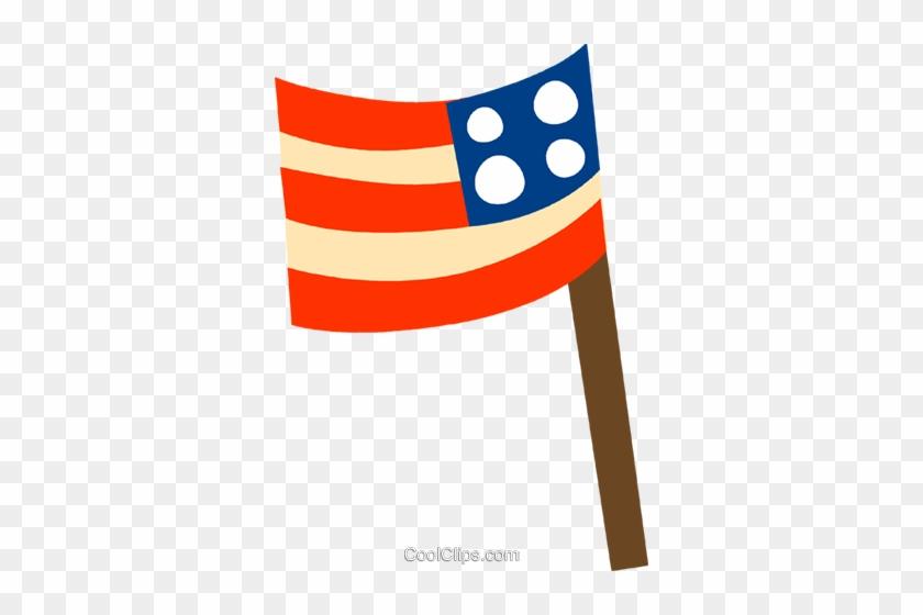 Usa Flag Royalty Free Vector Clip Art Illustration - Usa Flag