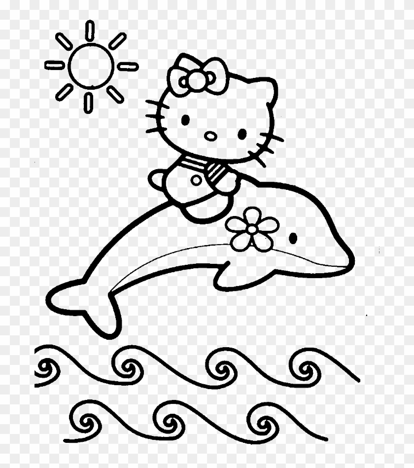 - Hello Kitty At The Beach Summer Coloring Picture For - Baby