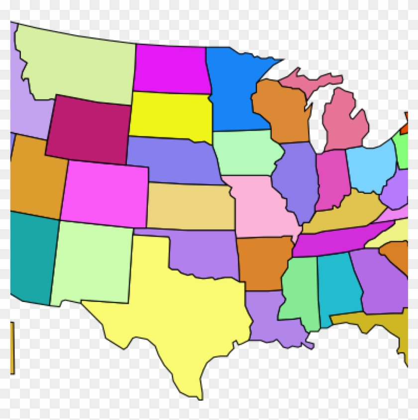 Clipart Map Of Usa United States Map Clip Art At Clker ...