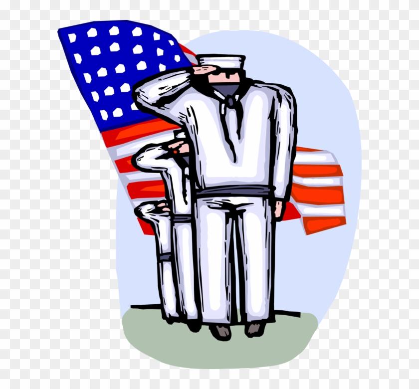 Vector Illustration Of United States Navy Marine Sailors - Illustration #1353381