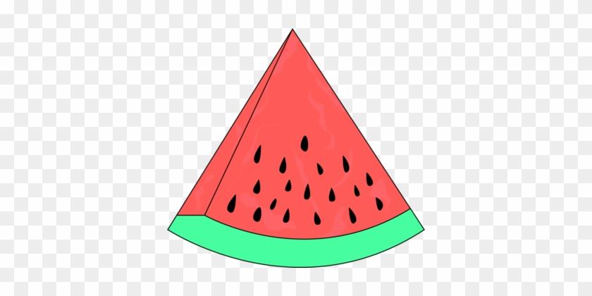 Watermelon Seedless Fruit Food Honeydew - Slice Of Watermelon Clipart #1353403