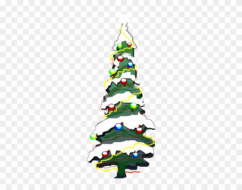 Snowy Christmas Tree Clipart #1353534