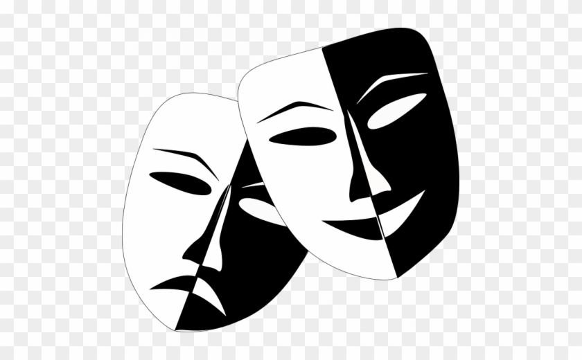 Drama Masks That Are Sad And Happy - Theatre Masks #1354693