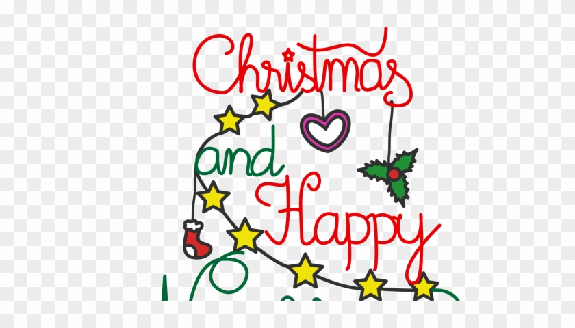 Merry Christmas And Happy New Year Clip Art - Christmas And New Year Celebrations #1355083