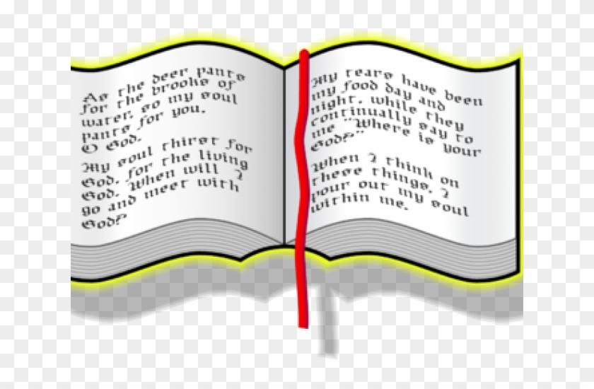 Scripture Clipart Opened Bible - Clipart Bible Open #1355553