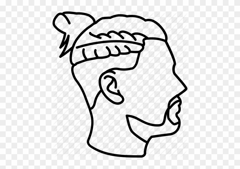 Freeuse Library Bun Drawing Outline Fade Haircut Drawing Free Transparent Png Clipart Images Download