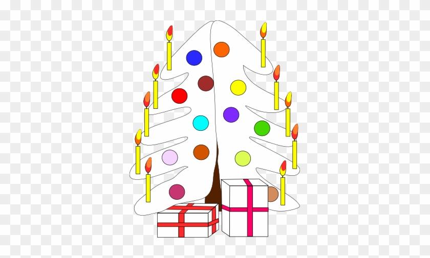 Xmas Christmas Tree 7 Black White Line Art Coloring - Christmas Day #1358878