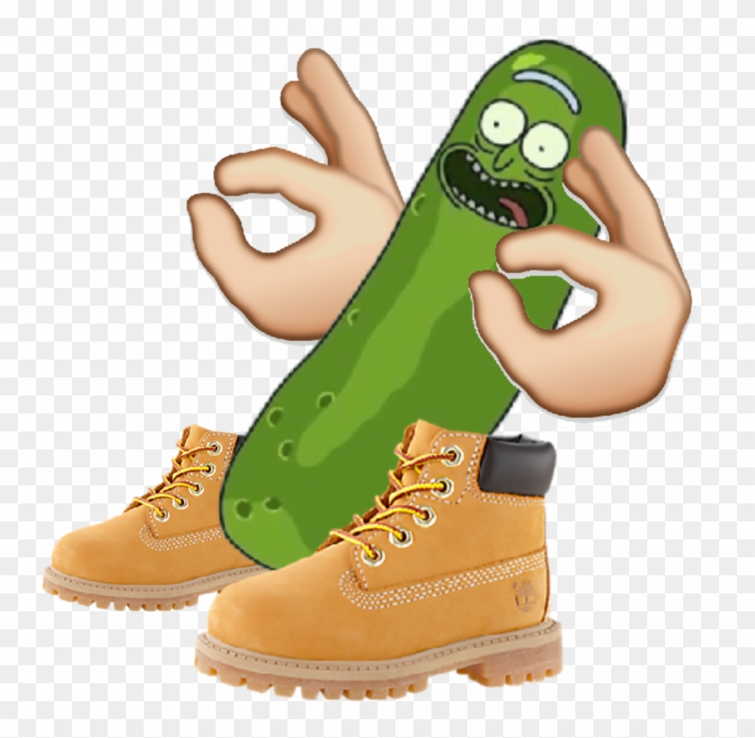 Timbs Png Transparent Background Clip Art Black And - Pickle Rick With Timbs #1359762