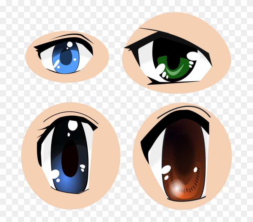 Clip Art Library Library Eyes Images Cc By - Vector Anime Eyes #1359885