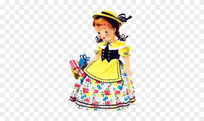 #vintage #illustrations #girls Vintage Children's Books, - Paper Doll #1360130