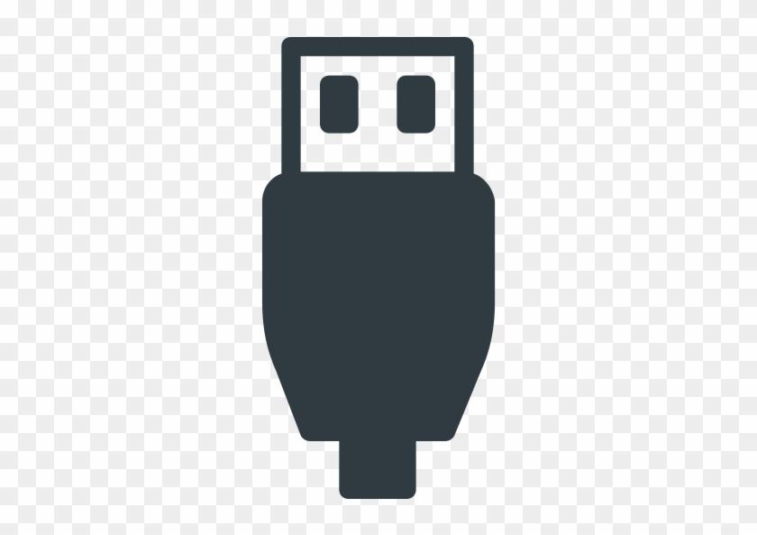 Usb Cable Plug Micro, Usb, Usb Compatible Icon - Usb Cable Icon Png #1360463