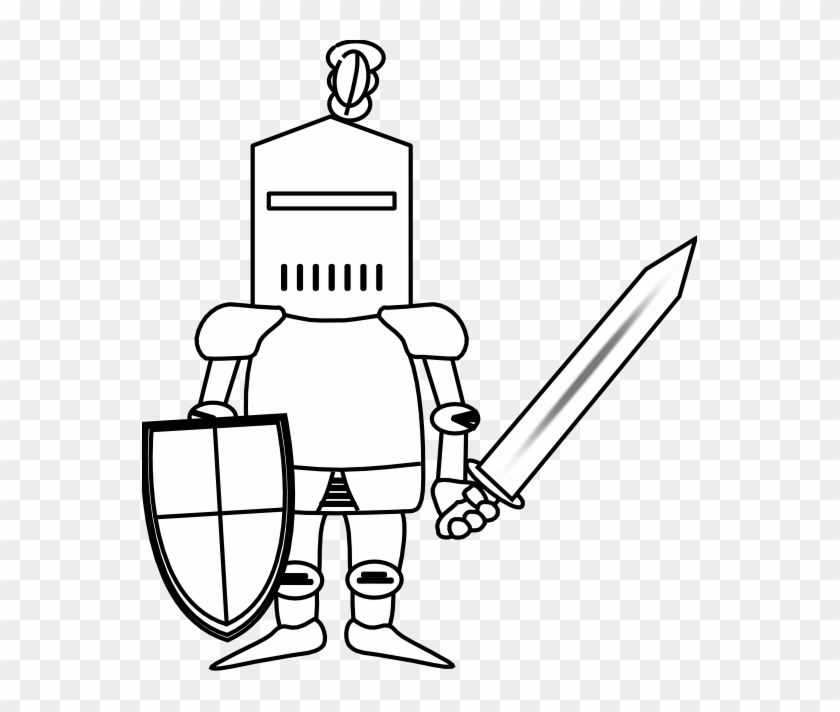 Freeuse Knight Clipart Black And White