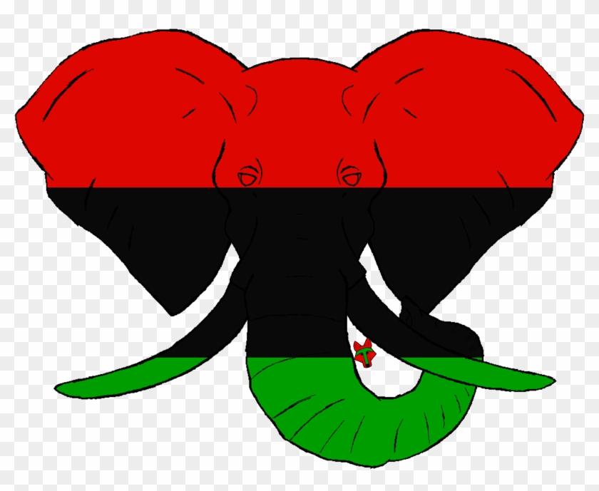 African Elephant Flag Designed By P A - Elephant #1361589
