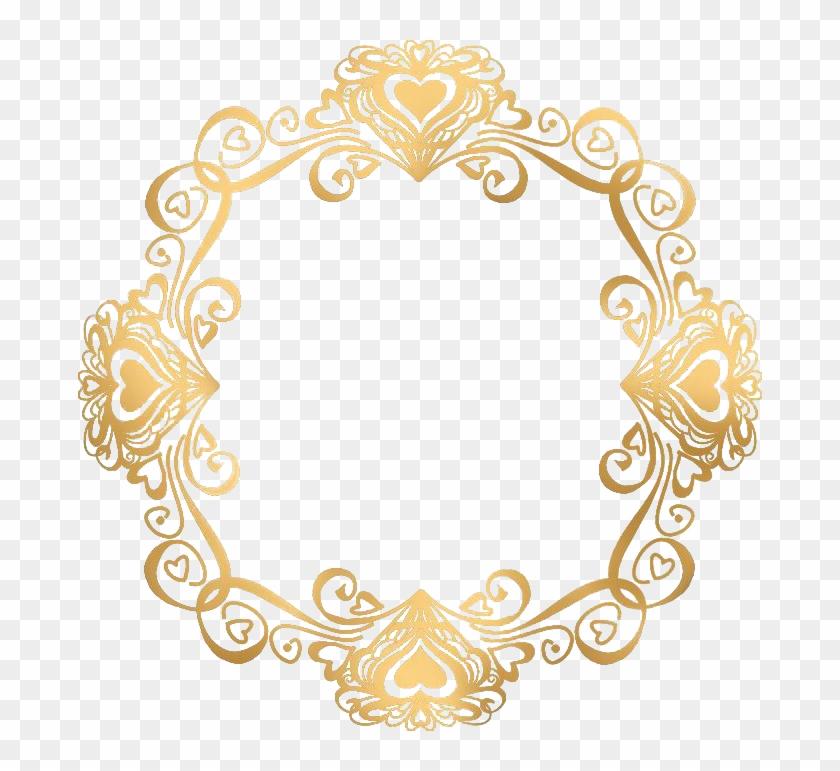 Gold Picture Frames, Pictures, Clip Art, Oval Frame, - Wedding Invitation Gold Border #1362437