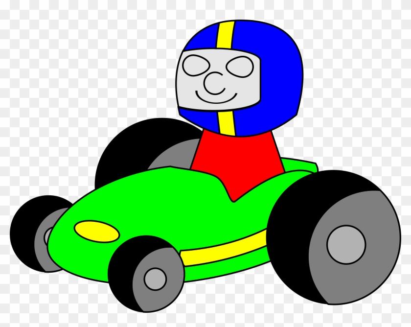 Free Vector Tombrough Gokart Clip Art - Clip Art Go Kart #211554
