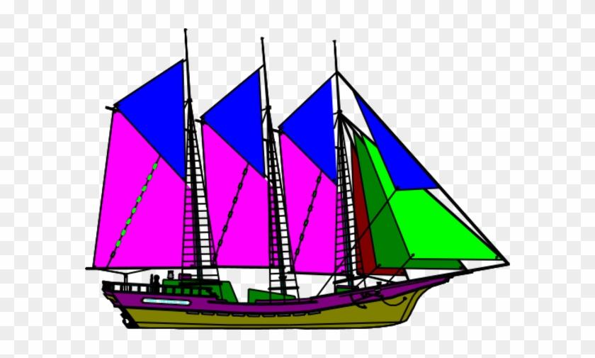 Large Ship Mast Clipart Ship Clipart - Sailing Ship #211681
