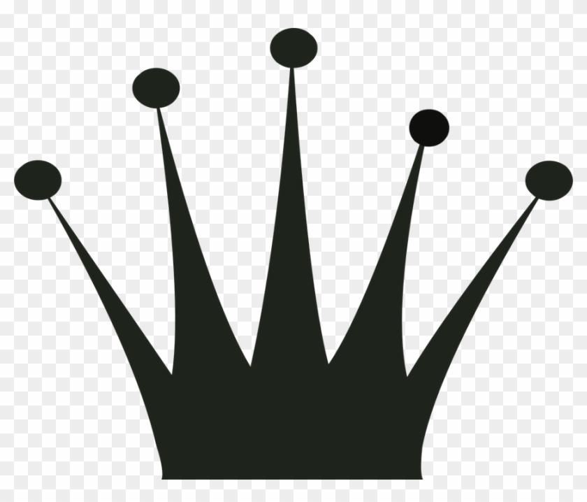 Krone Clipart Schwarz - Queen Crown #212183