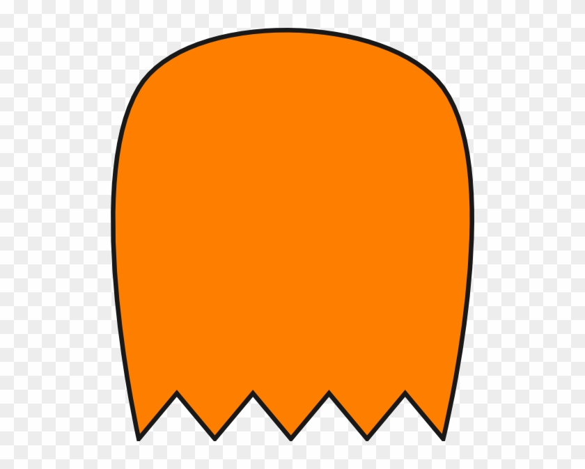 Orange Pacman Ghost Clip Art - Pac Man Blue Ghosts Clipart #212184