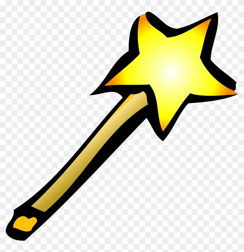 Wand Icon - Magic Wand Clipart Png #212321