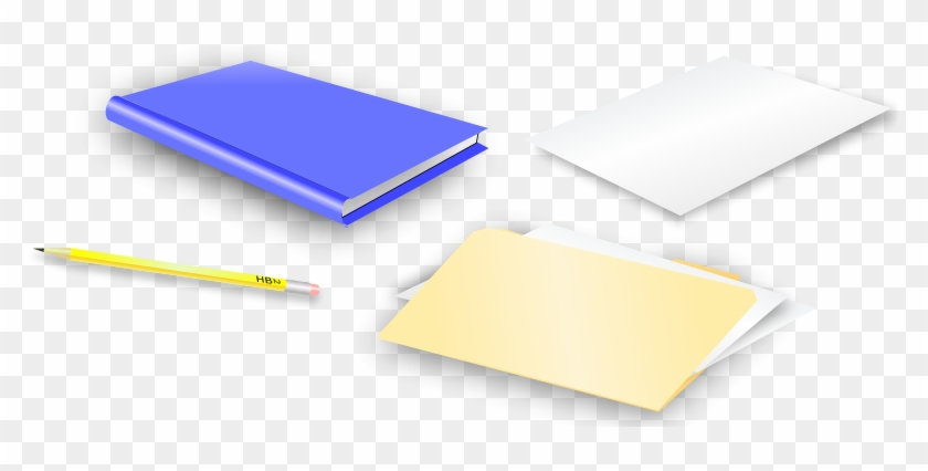 School Or Office Supplies - Folder And Pencil #212460