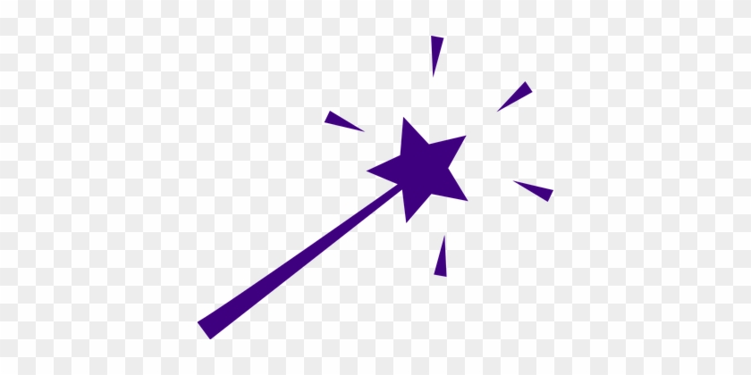 Wand Magic Star Isolated Stick Spell Blue - Star Wand Clip Art #212525