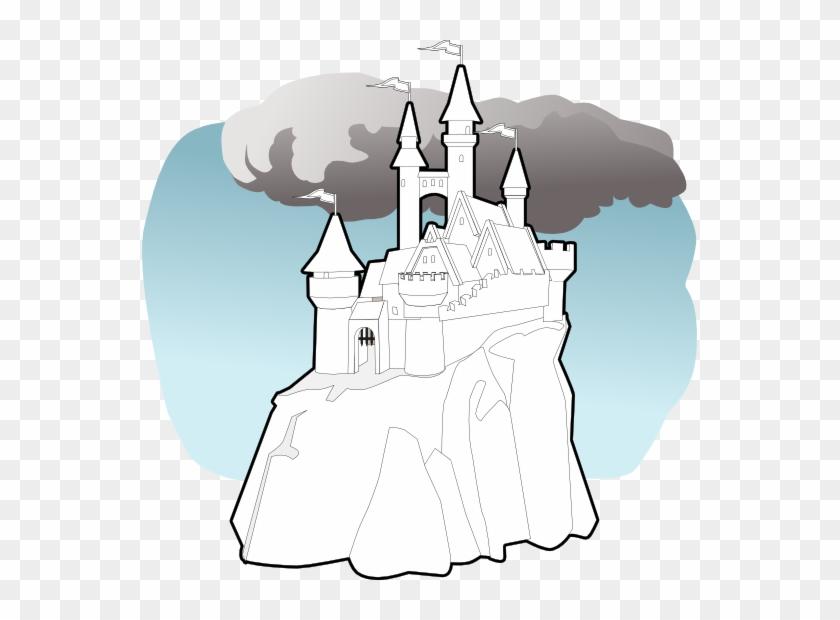 Fairy Tale Castle Black White Line Art 555px 87 - Fairy Tale #212864