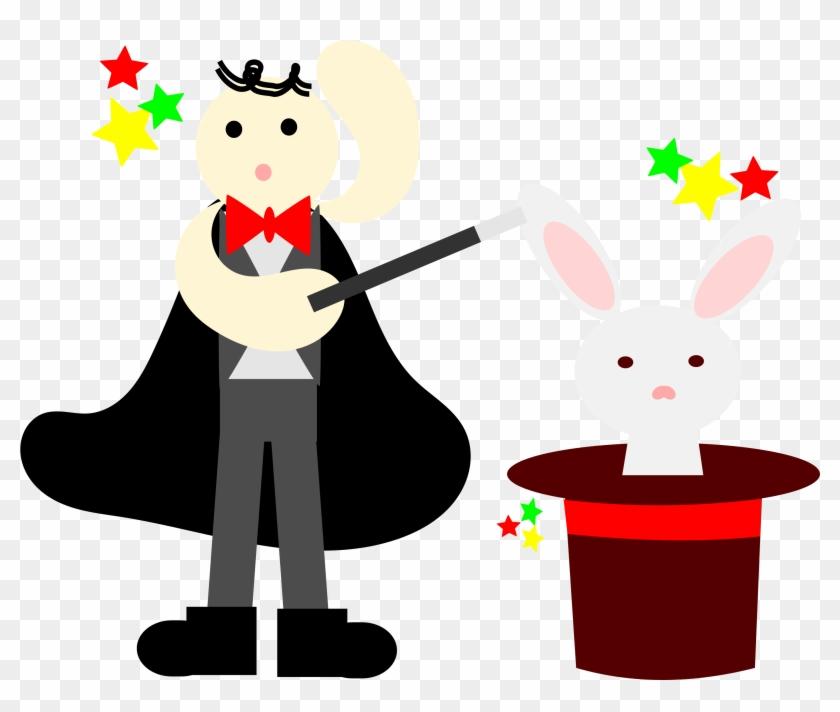 Hat Clipart Magicians - Magician Clipart With Rabbit #212897