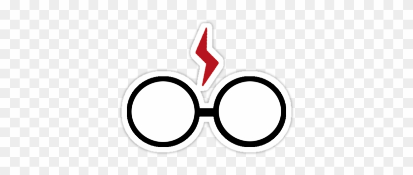 harry potter glasses and scar sticker stickers by blushingblainey circle free transparent png clipart images download harry potter glasses and scar sticker