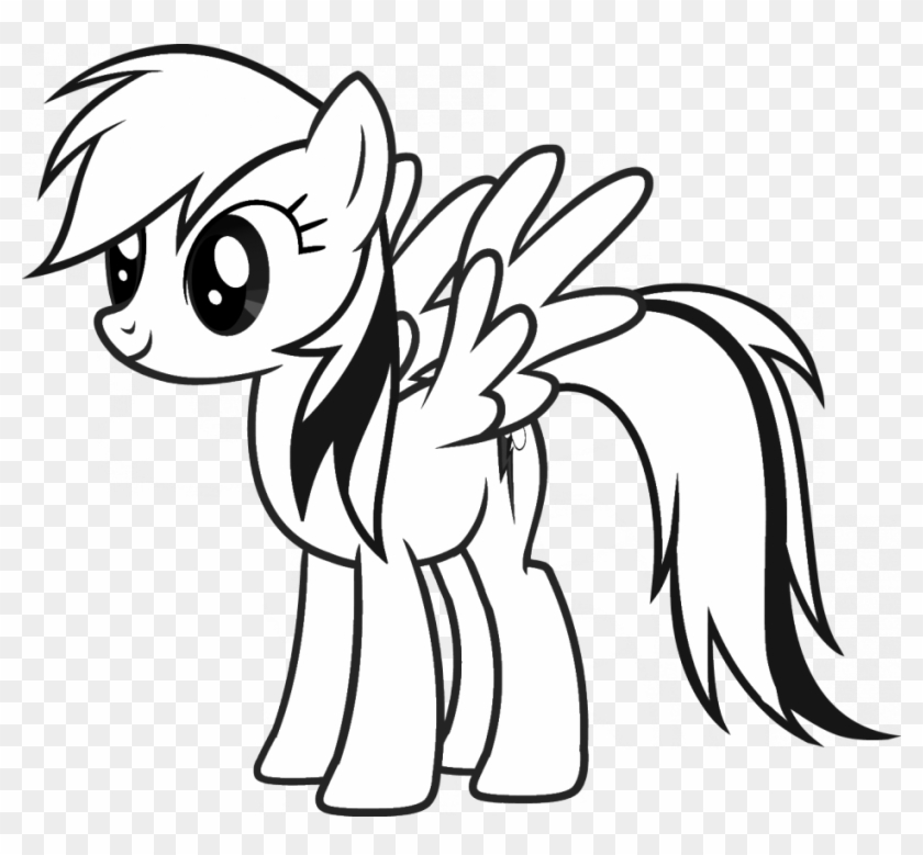 My Little Pony Clipart Black And White - Little Pony Friendship Is Magic #213120