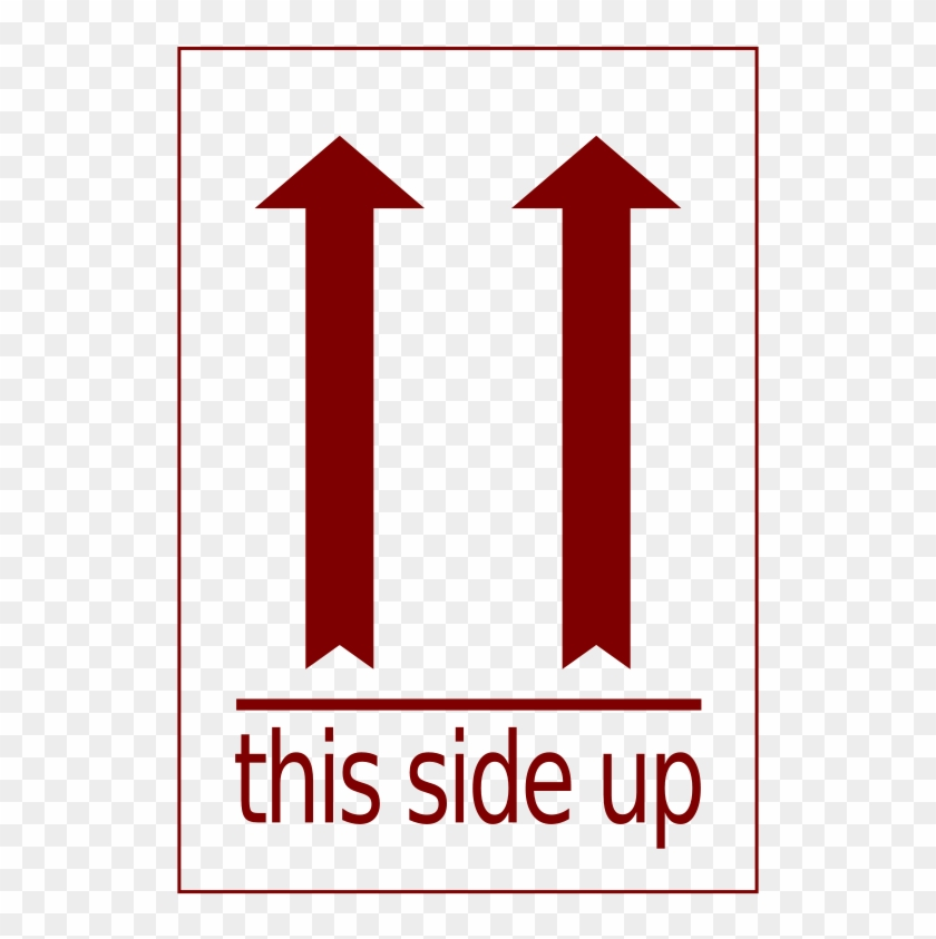 Free Side-up Label Free Art - Signs This Side Up #213461
