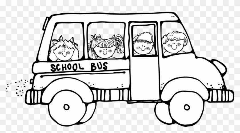 Magic - School - Bus - Coloring - Page - School Bus Clipart Black And White  - Free Transparent PNG Clipart Images Download