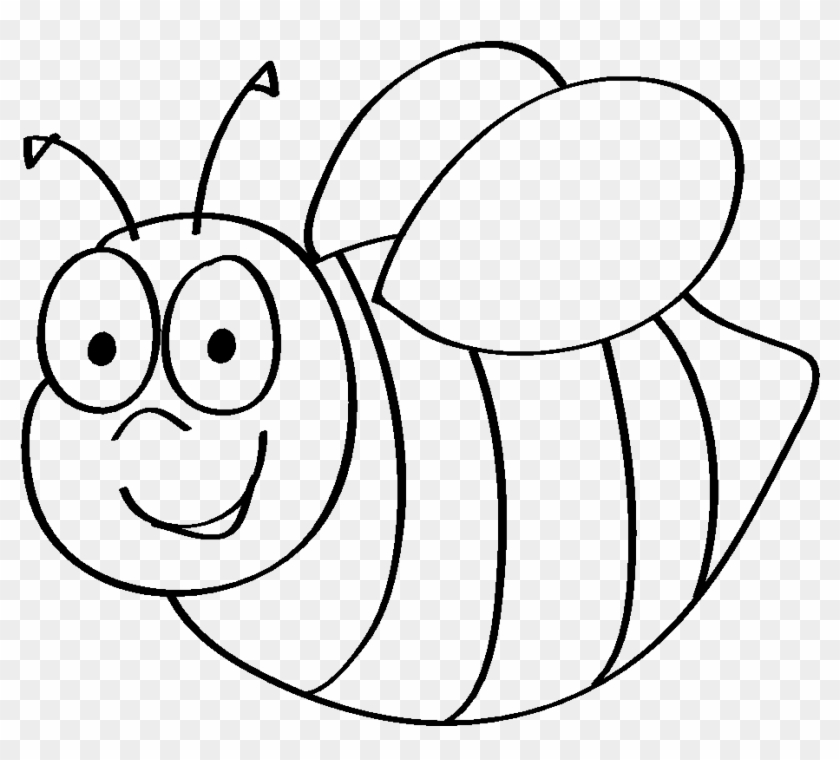 Bumble Bee Template Printable Clip Art Coloring Pages - Bumble Bee Coloring  Page - Free Transparent PNG Clipart Images Download