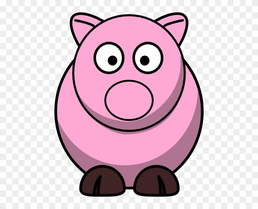 Weird Pig Clip Art At Clker - Farm Animals Cartoon Clipart #214494
