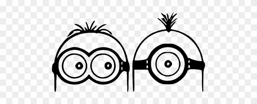 image relating to Free Printable Minion Eyes named Minion Eyes Clipart - Minions Within Black Sticker - Cost-free