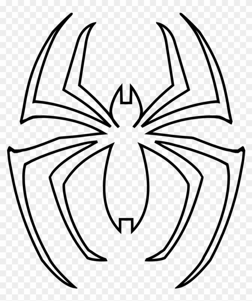 Spidey Symbol By Saiturtlesninjanx On Clipart Library - Spiderman Logo Coloring Pages #214692