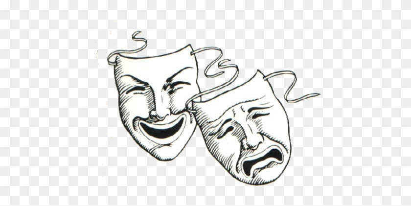 No Drama In Hockey • The Game Haus - Comedy And Tragedy Masks Clipart #214701